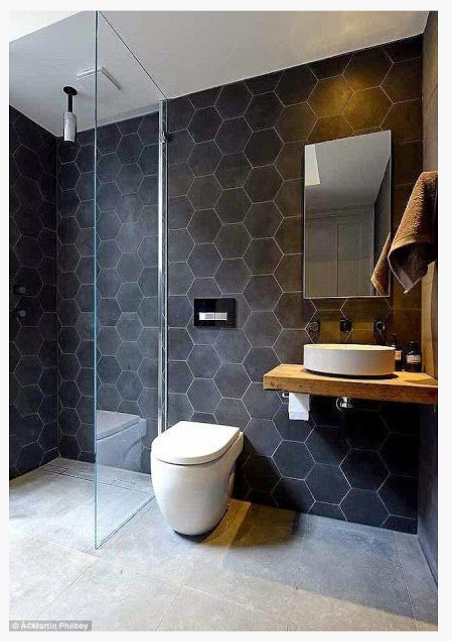 Salle de bains bois ardoise   Salle de bain   Pinterest   Salle de ...