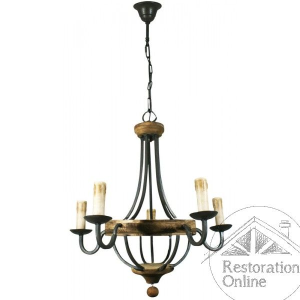 Wrought Iron Chandelier Arterious 5 Light Pendant Wrought Iron