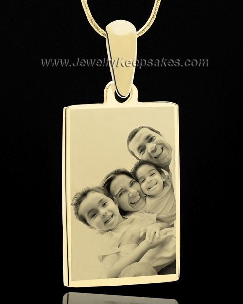 Photo engraved gold plated over stainless rectangle pendants gold photo engraved rectangle pendant in gold plating aloadofball Choice Image