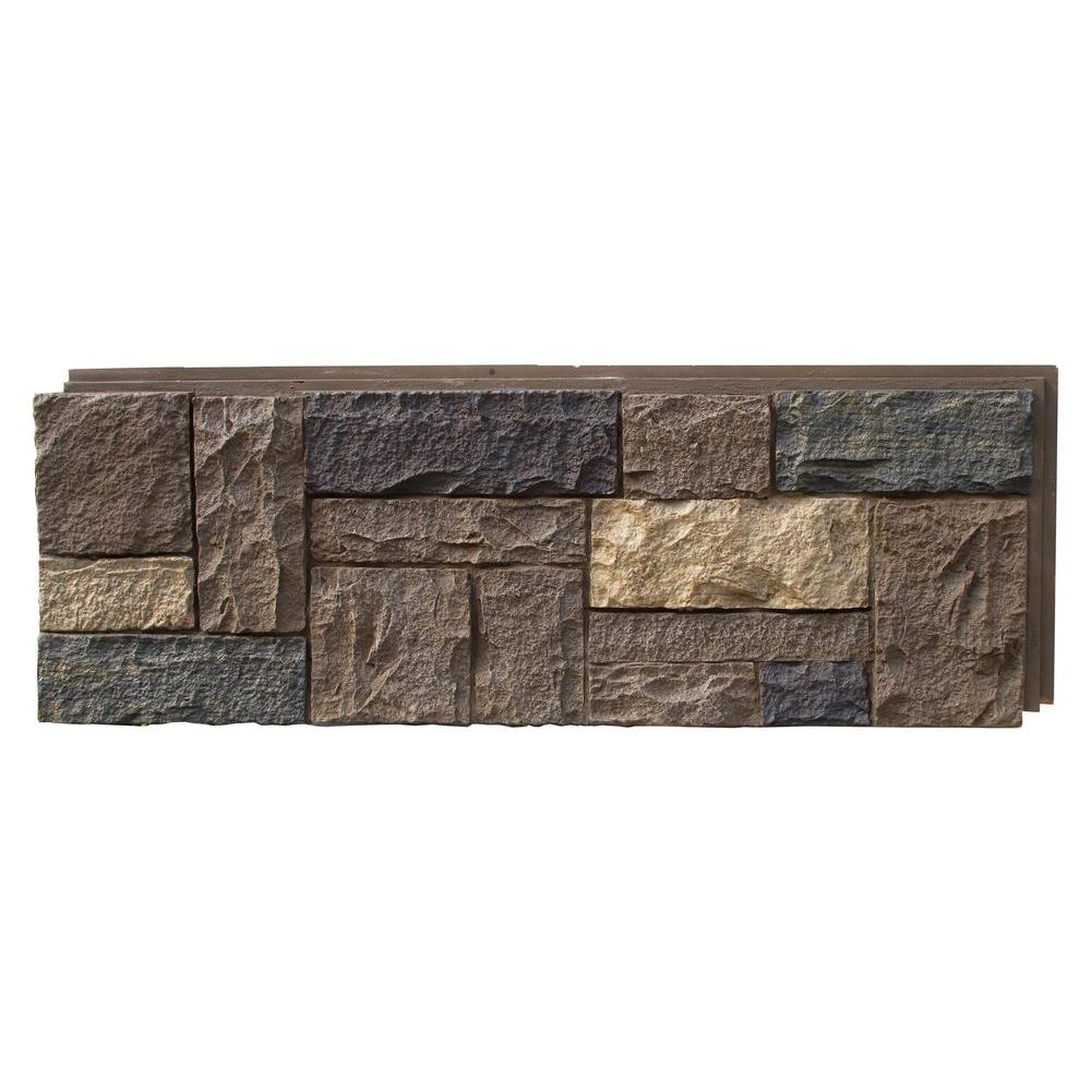 Nextstone 15 In X 43 In Castle Rock Ashford Charcoal Faux Stone Siding Panel 4 Pack Stone Siding Panels Faux Stone Siding Stone Siding