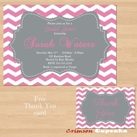 Baby Shower Invitation Backgrounds Free Simple Printable Pink Gray Grey Chevron Bridal Baby Shower Invitation Free .