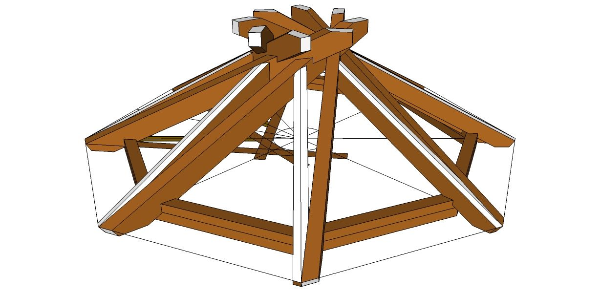 Roof Framing Geometry: The Mandala roof (reciprocal roof) | Z ...