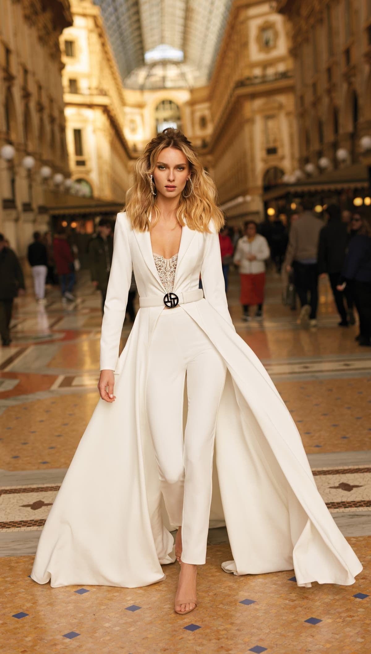Berta Wedding Dresses 2020 Milano Collection Dress For The Wedding In 2020 Bridal Jumpsuit Wedding Pantsuit Wedding Jumpsuit