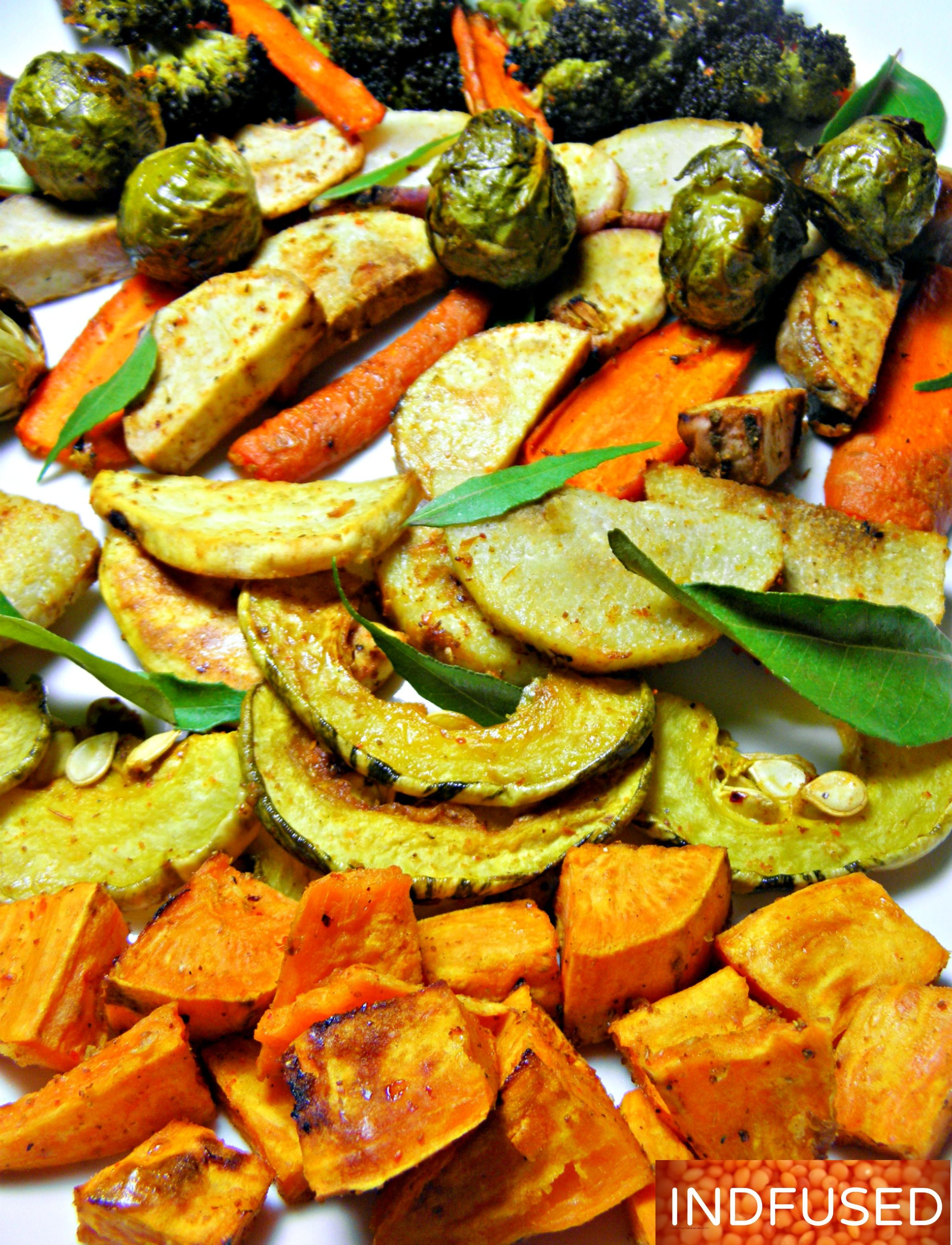 Roasted vegetables with garam masala recetas para cocinar receta roasted vegetables with garam masala forumfinder Images