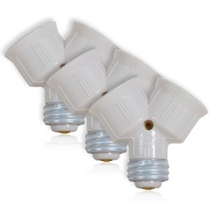 This Is Our Light Bulb Socket Splitter For Led Cfl Standard Light Bulbs Pack Of 3 Why Install Another Socket When You Can Use Light Bulb Bulb Lamp Socket