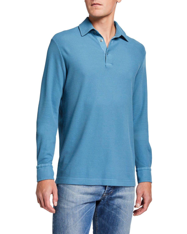 Mens longsleeve pique polo shirt in 2020 pique polo