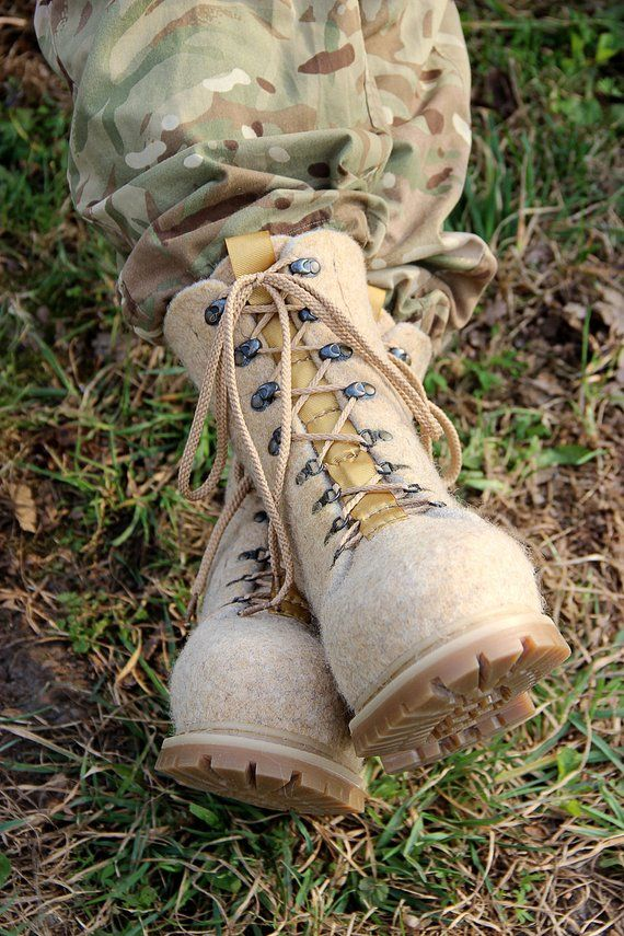 9f21f8536ca6a Military tactical boots, wool felted, laced snow boots, valenki ...