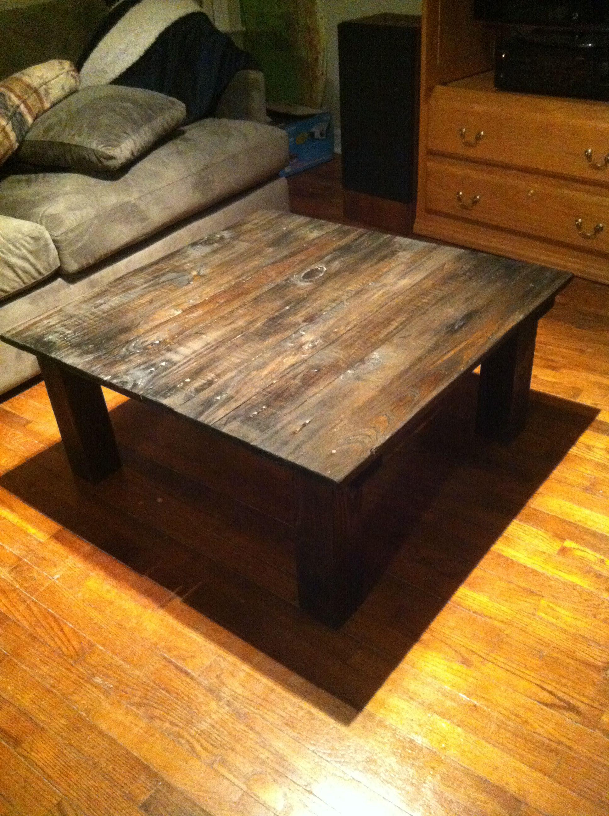 Handcrafted Wooden Coffee Table DIY   Supplies: 3 12u0027 1x4s 1 8u0027 2x4
