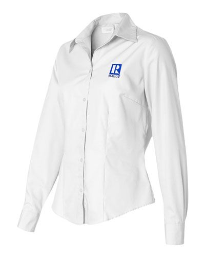 Womens Dress Poplin Shirt with REALTOR Logo Calendars & More - Realtor Supplies Real Estate Supplies