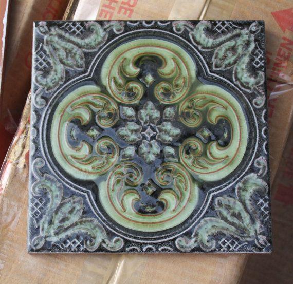 Vintage Ceramic Tile Made In Italy La Campanella Sassuolo Vintage Ceramic Ceramic Tiles Ceramics