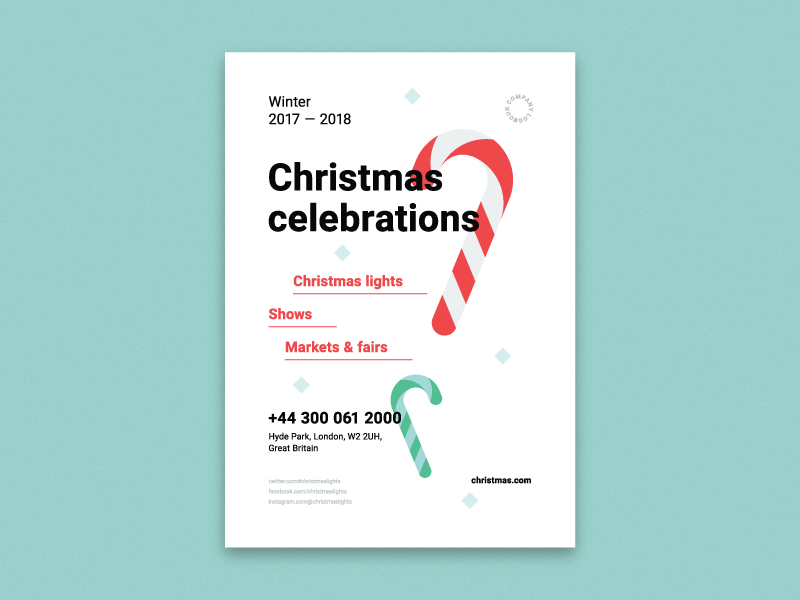 Christmas Poster Template  HttpEdtImWxygZ  Candy