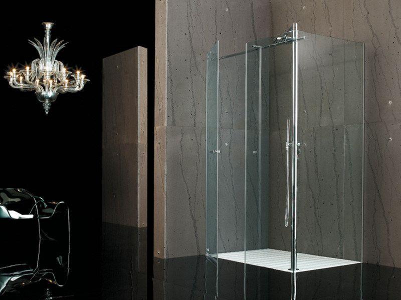 Box doccia angolare in vetro temperato RASOFILODOCCIA