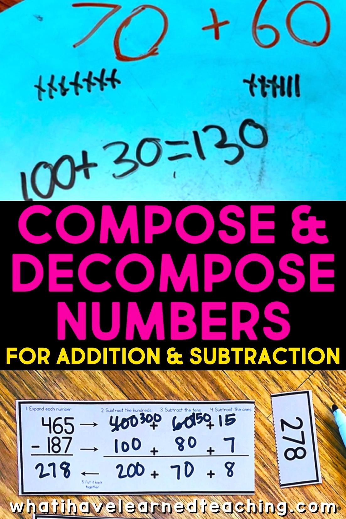 Compose Decompose Numbers For Addition Subtraction Video Video Teaching Tips Decomposing Numbers Math Lessons [ 1652 x 1102 Pixel ]