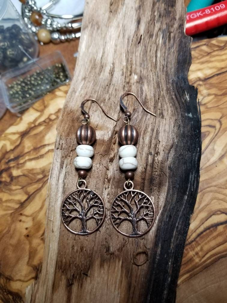 Photo of Tree of Life Earrings/Boho chic jewelry/meditation jewelry/spiritual jewelry/beaded earrings/yoga earrings/tribal earrings/hippie earrings – Things to wear