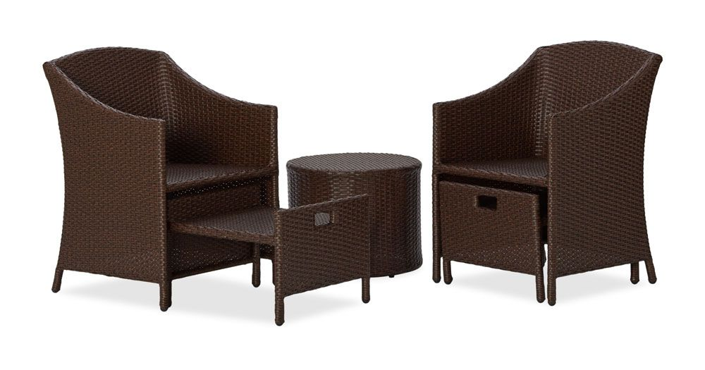 black wicker patio furniture adds sophistication to the patio