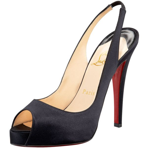 sale big discount Christian Louboutin Satin Slingback Pumps authentic cheap online free shipping 2015 outlet best 3o7cLNH