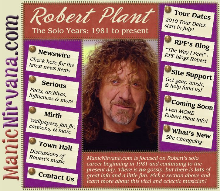 Welcome Robert Plant Fans