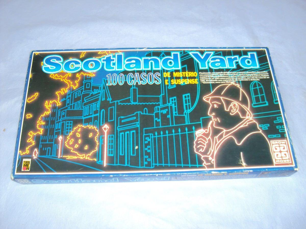 Brinquedo Antigo Jogo Scotland Yard Da Grow Completo R 50 00 Brinquedos Brinquedos Antigos Jogos