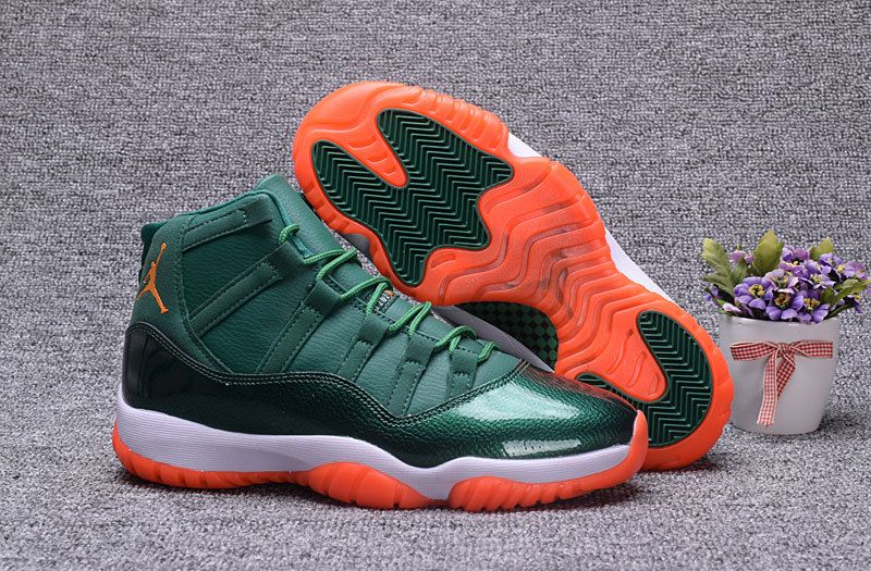 9608416225fb26 Andre Johnson Air Jordan 11 Miami Hurricanes PE Cheap For Sale 2017