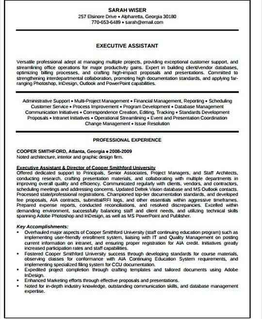 It Executive Assistant Resume Template  It Infrastructure Manager