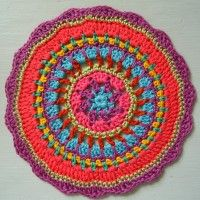 Crochet Mandala Wheel made by  Ruth, USA for yarndale.co.uk