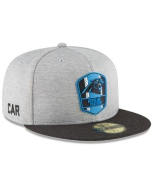 da4e78bed502e1 New Era Boys' Carolina Panthers Official Sideline Road 59FIFTY Fitted Cap -  Blue 6 1/2