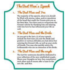 Best Man Wedding Speech Samples