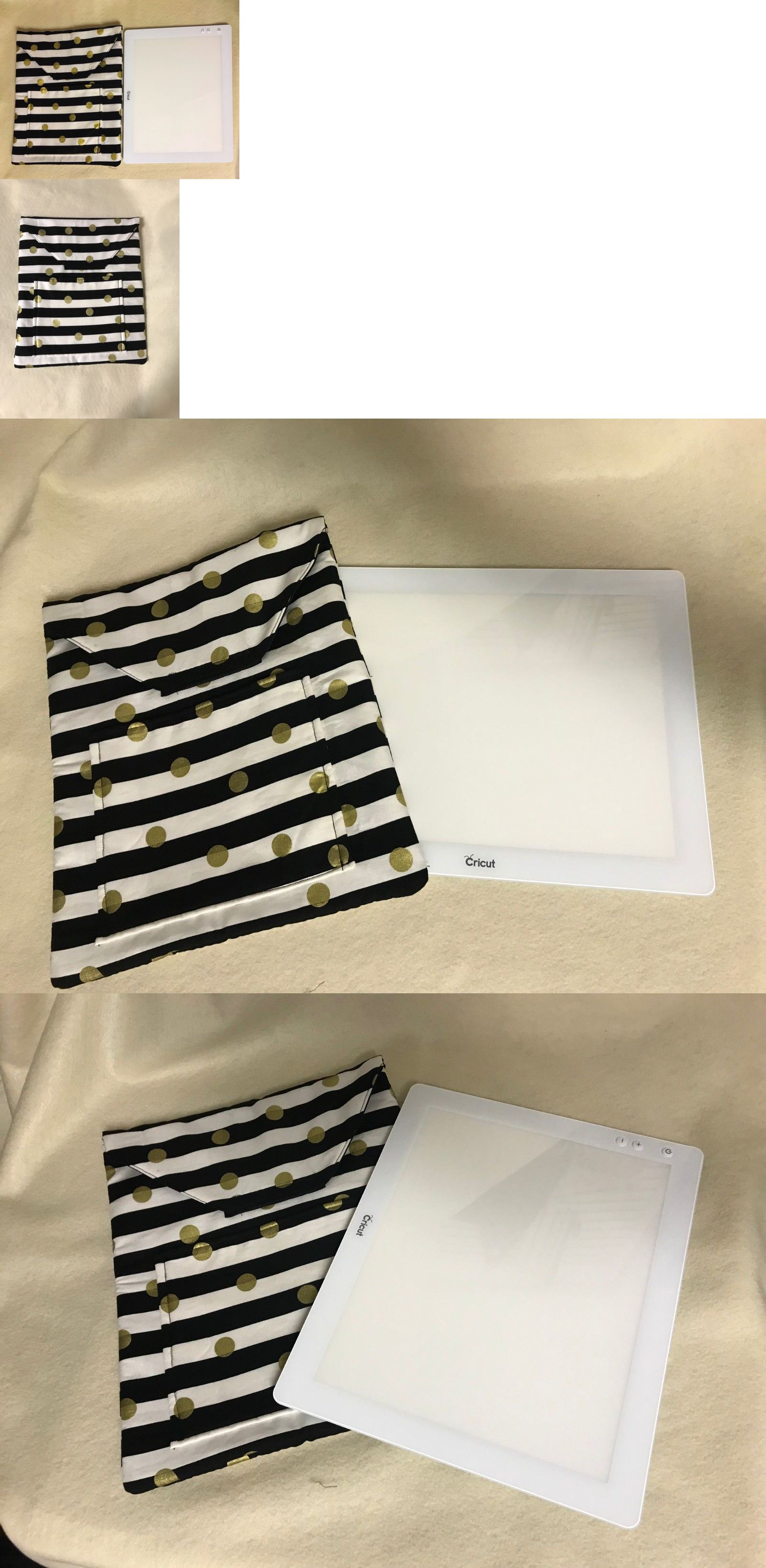 Machine Parts And Accessories 183240 Cricut Bright Pad Cover Case Black Lines Gold Betzysdesigns Quilted Brightpad Buy It Now On Pad Cover Cricut Quilted