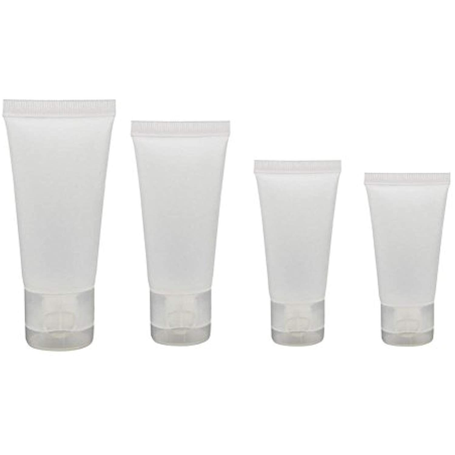 ac4b7a1b270a 20PCS Transparent Empty Refillable Plastic Packing Sample Soft Tubes ...