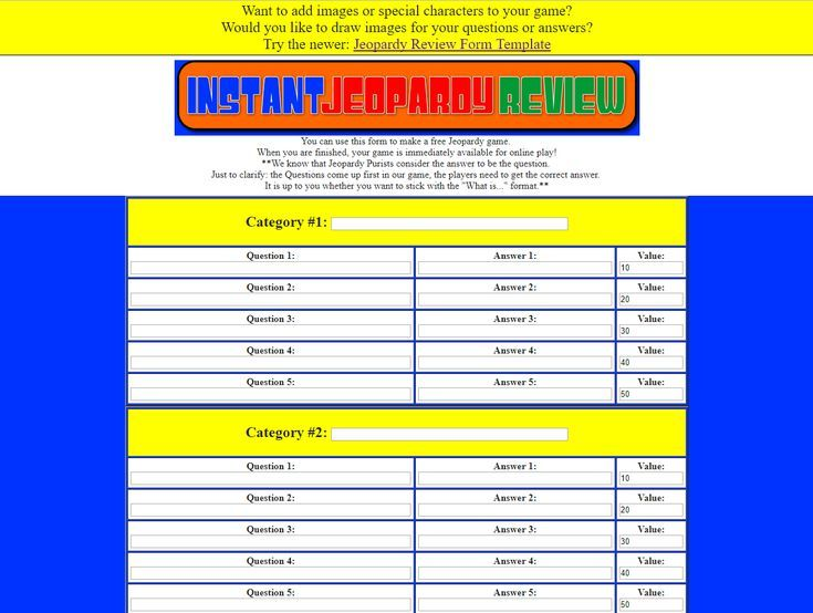Review and Teach with These 9 Free Jeopardy Templates Template and