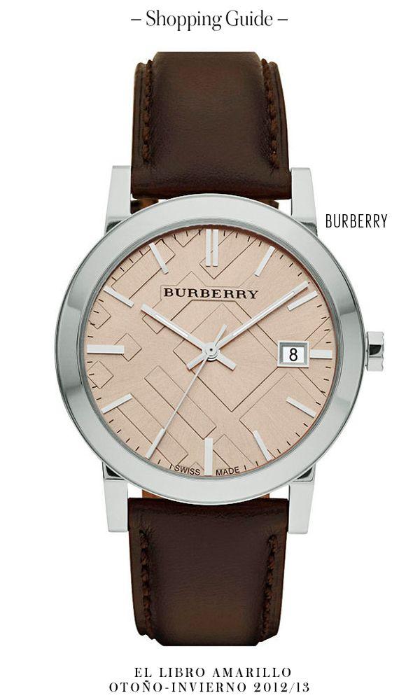 Reloj - Burberry - El Palacio de Hierro - El Libro Amarillo Otoño Invierno  12 13 7a0a9cc68960