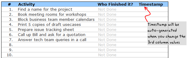 Todo List / Task List Templates For Project Management   Dowload .