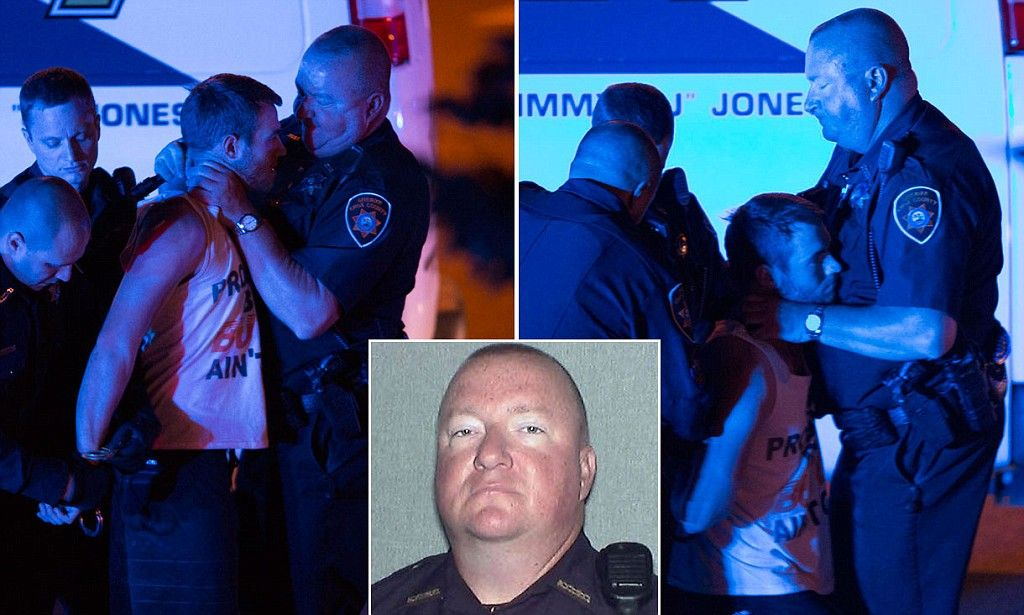 Police photographed choking college student until he