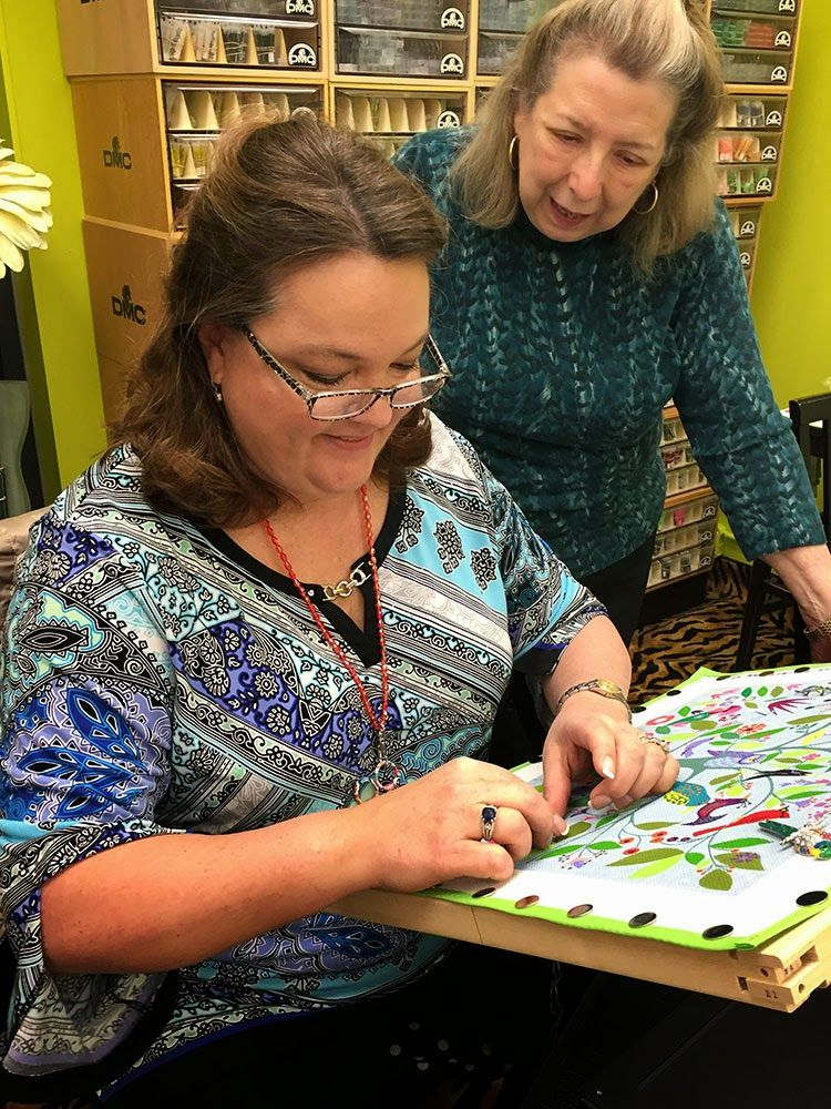 It's not your Grandmother's Needlepoint/ The one and only Meredith Willet came to visit and we had two very fun classes.