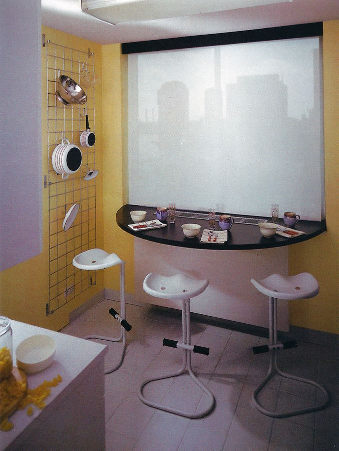 Post Modern Kitchen 80's postmodern kitchen interior design | interior/postmodern