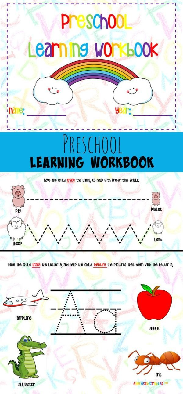 Preschool Learning Workbook #preschool #preschoolers #prek #learning ...