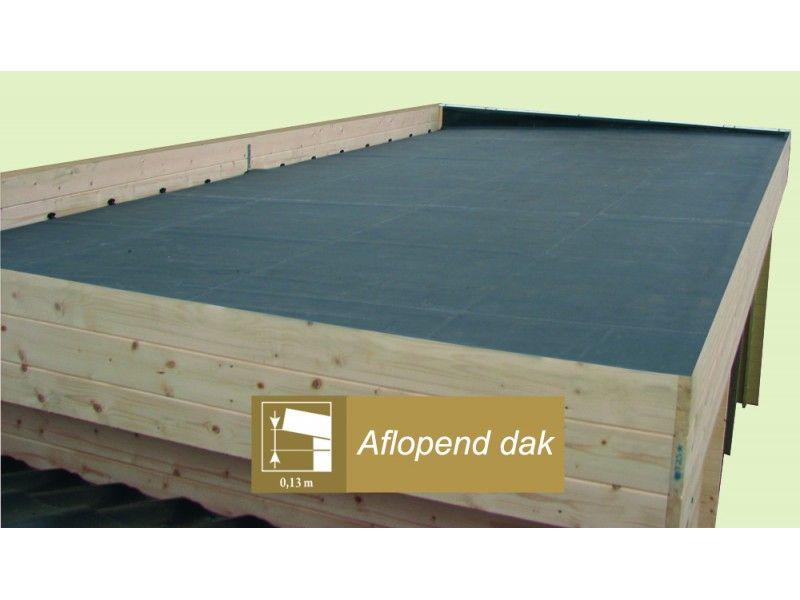 Afbeeldingsresultaat voor tuinhuis plat dak zelf maken tuinhuis in