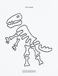 printable dinosaur skeleton template.html