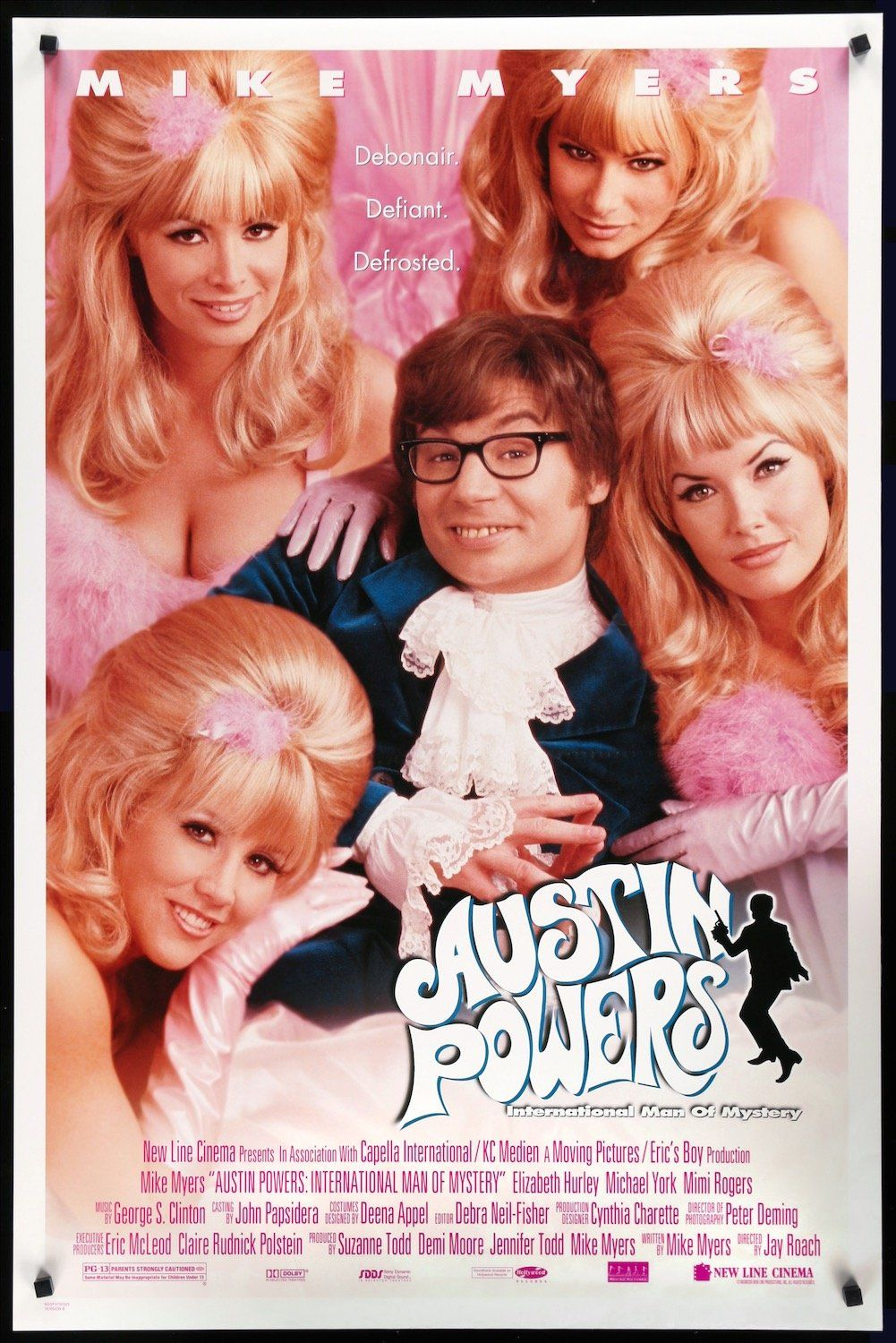 Austin Powers International Man Of Mystery 1997 In 2021 Austin Powers International Man Of Mystery Comedy Movies