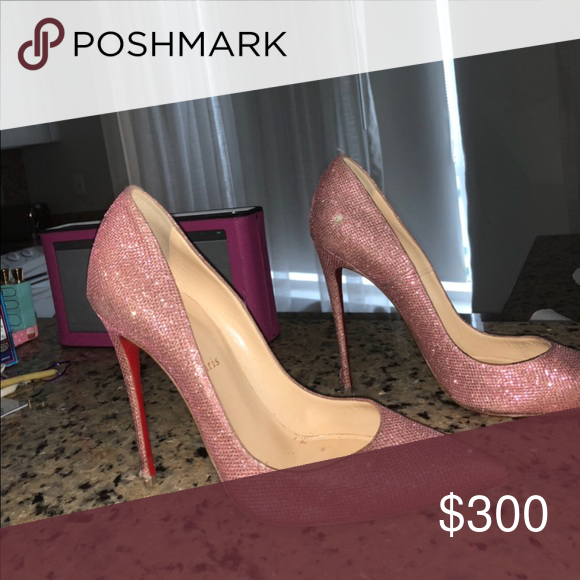 4e27ab4edca Beautiful Louboutins worn several times Pink Sparkly So Kate Pumps ...