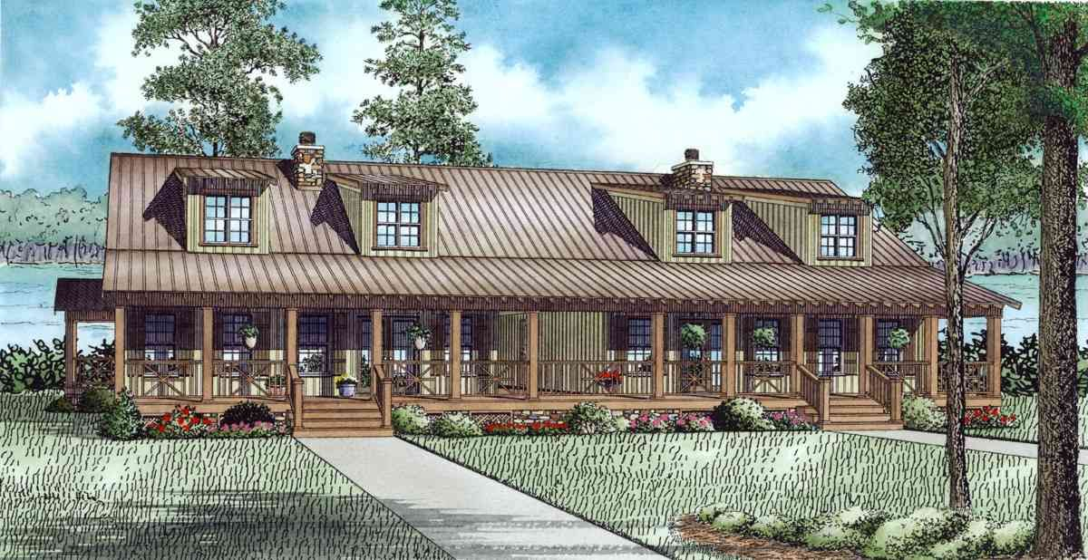 Plan 60646nd Rustic Mountain Cabin Duplex Home Plan In 2021 Country Style House Plans Family House Plans Duplex House Plans