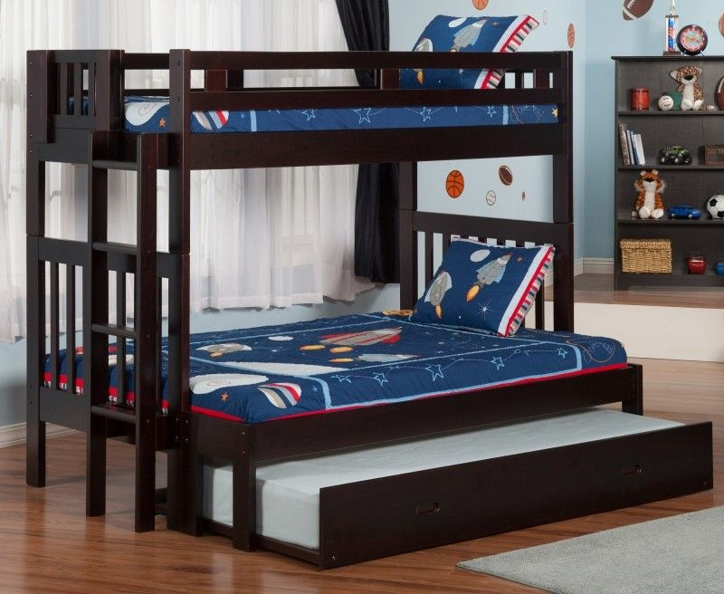 Cascade Twin Over Full Bunk Bed With Trundle For Little Ones 2
