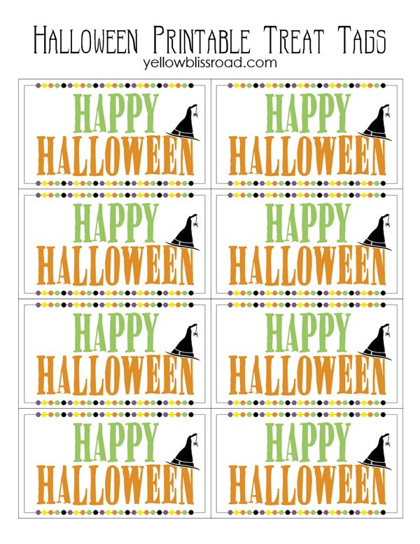 image relating to Printable Halloween Tag titled Pin upon Perfect of Pinterest
