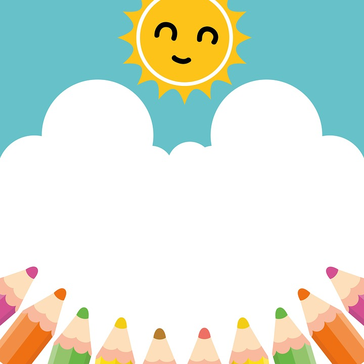Free Image On Pixabay Pencil Sun Sky Clipart Cute Art Drawings For Kids Powerpoint Background Design Kids Background