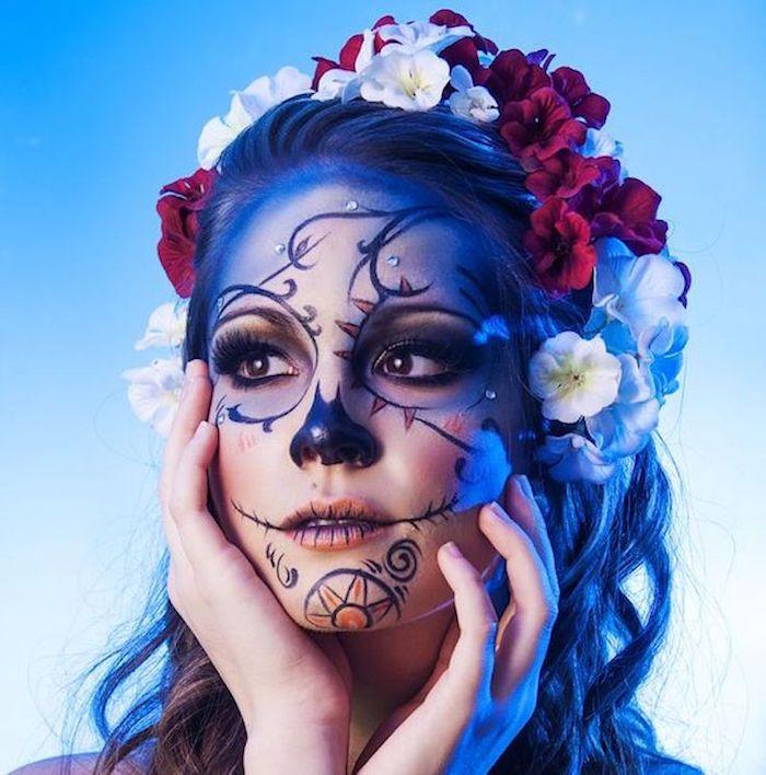 1001 id es bodacious body art maquillage squelette. Black Bedroom Furniture Sets. Home Design Ideas