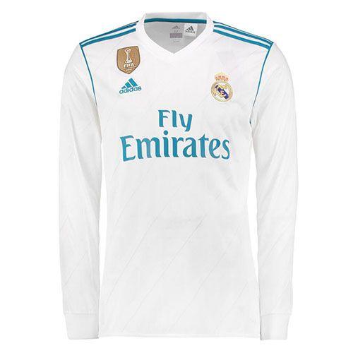 Camiseta Real Madrid Manga Larga Casa 2017 2018  6935531f5368b