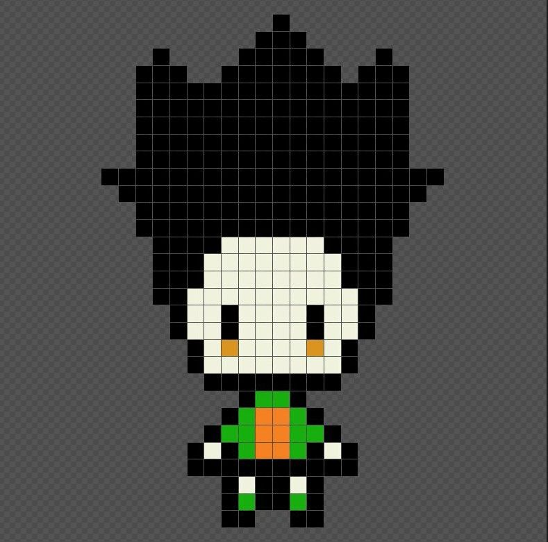Gon Hunter X Hunter Anime Pixel Art Patterns Gon Hunter Perles A Repasser