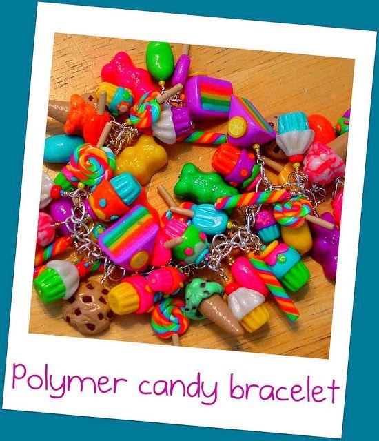 polymer candy bracelet by bit of wimzy, via Flickr