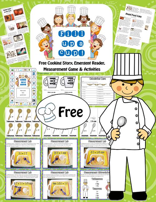 measurement game and math center activities free homeschooling kids cooking activities. Black Bedroom Furniture Sets. Home Design Ideas