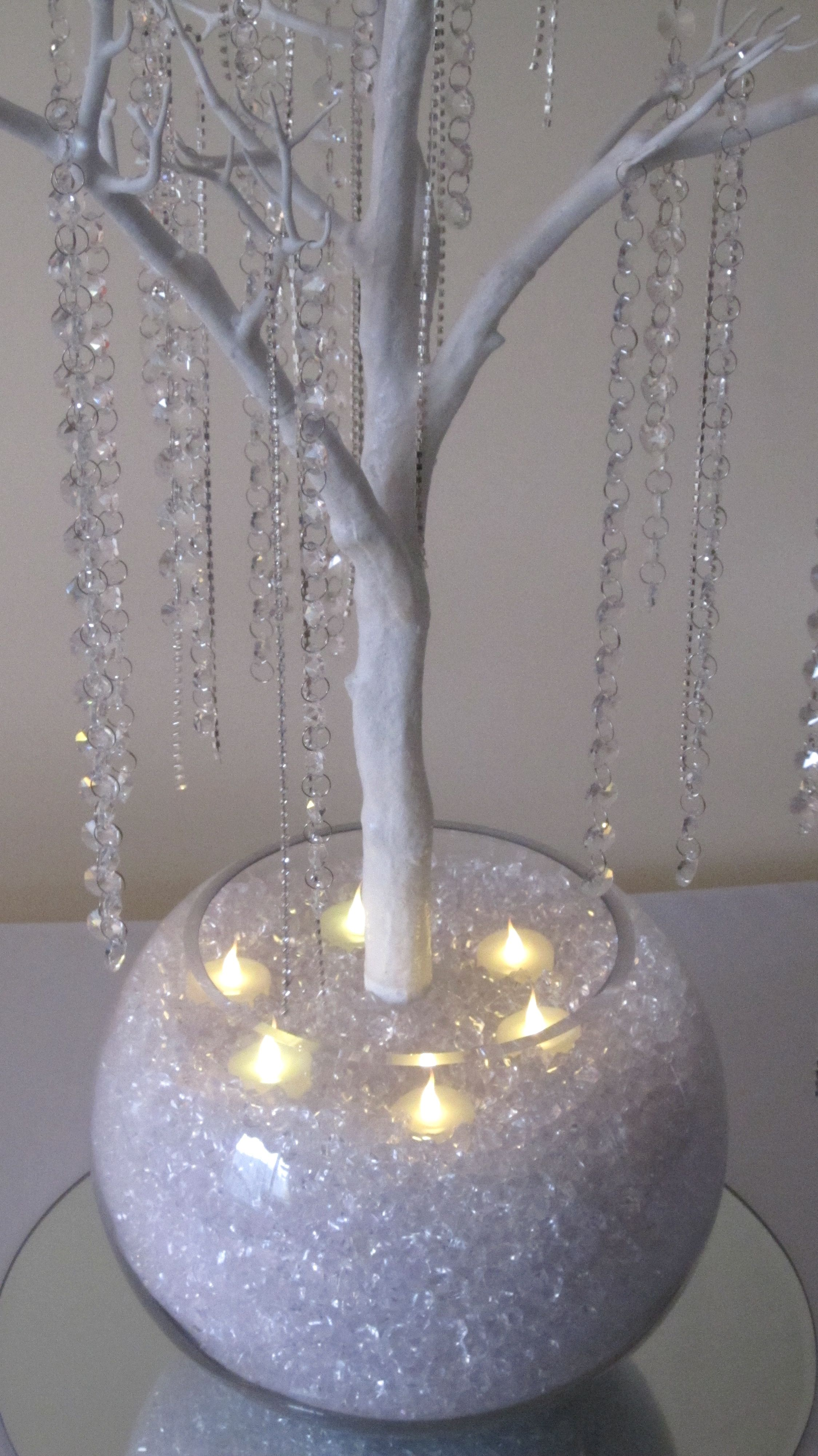 These Crystal Trees Can Be Used As A Show Stopping Luxurious Table Centrepiece They Look Amazing Christmas Decorations Crystal Tree Wedding Guest Book Table